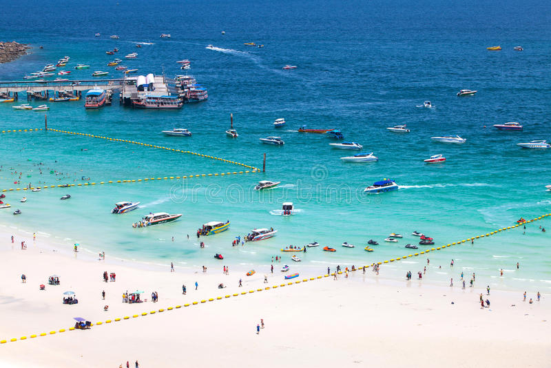 PATTAYA ,AUGUST 30 : beach of Koh Larn Island from viewpoint Koh Larn Island in Pattaya City on August 30,2015, Koh Larn island i stock photos