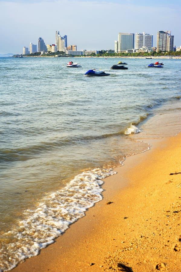Pattaya beach. In the sunshine day, Thailand stock photo