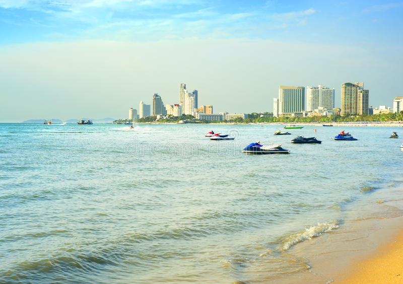 Pattaya beach. In the sunshine day, Thailand royalty free stock images