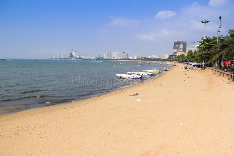 Pattaya beach holiday thailand stock image