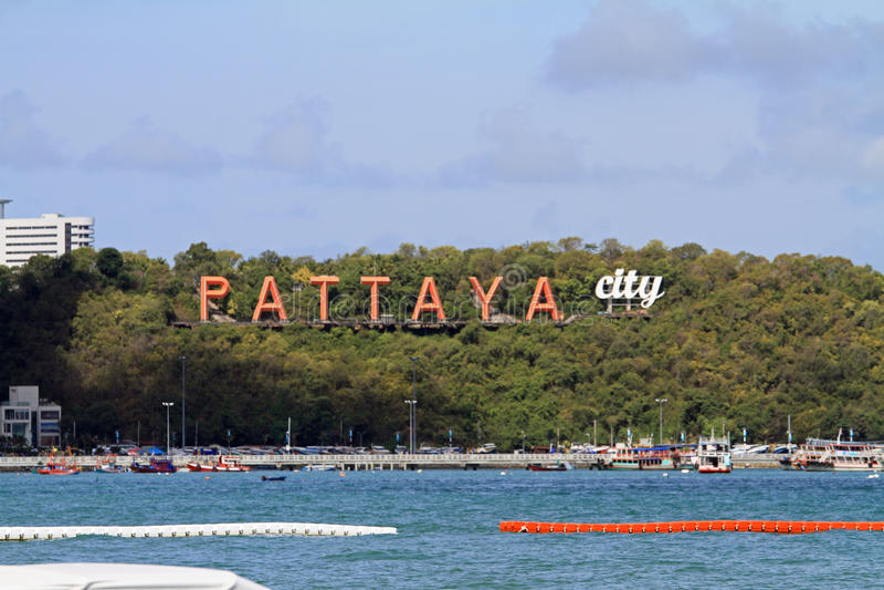 Pattaya beach. In Pattaya, Thailand stock photos