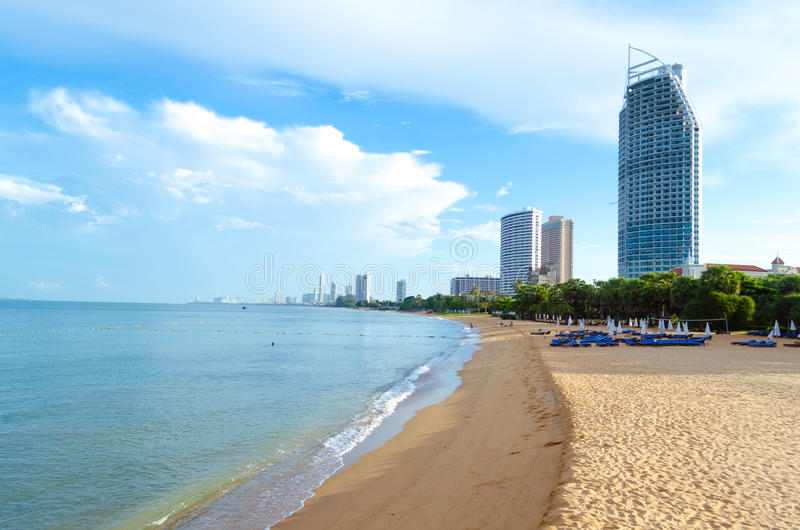 Pattaya beach Thailand. Pattaya beach at Pattaya Thailand royalty free stock image