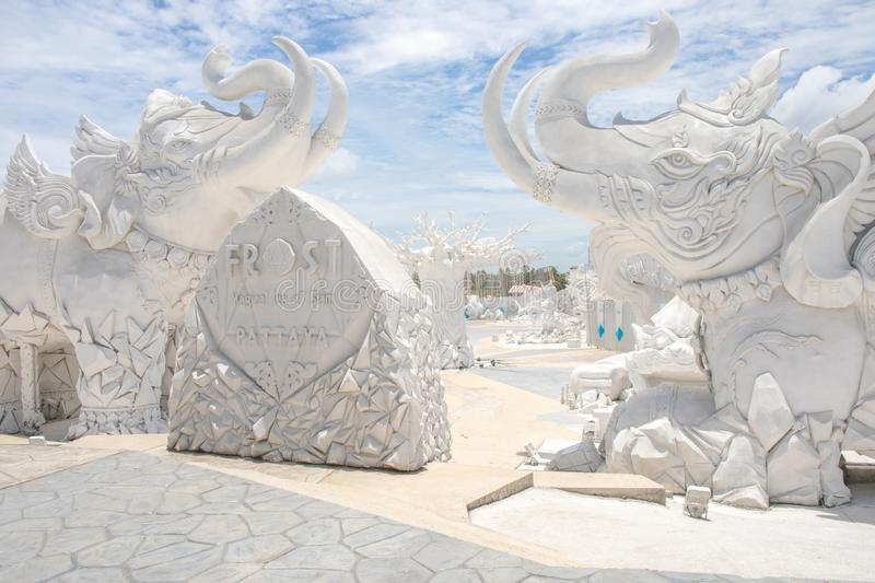 `Frost, Magical Ice of Siam`  Tourist attraction at Pattaya Chonburi Thailand. royalty free stock photography
