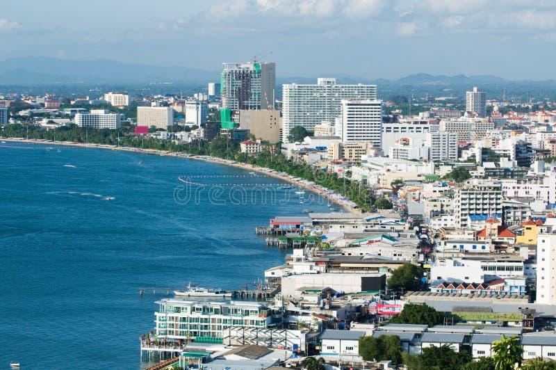 Pattaya City. Aerial view of Pattaya City, Chonburi, Thailand stock images