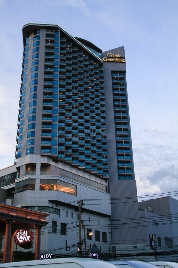 Modern apartment hotel building stock photos