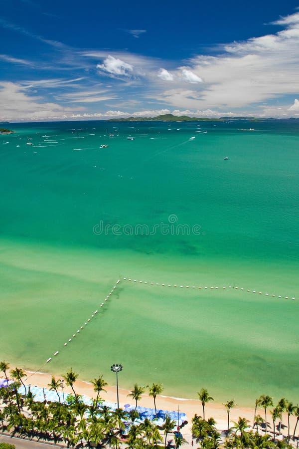 Pattaya And Lan Island  Bird Eye View Stock Photography