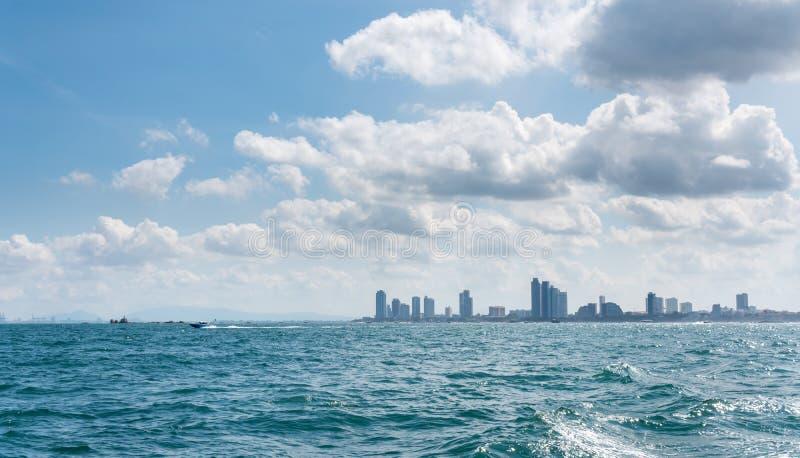 Pattaya miasta widok na morzu obrazy stock