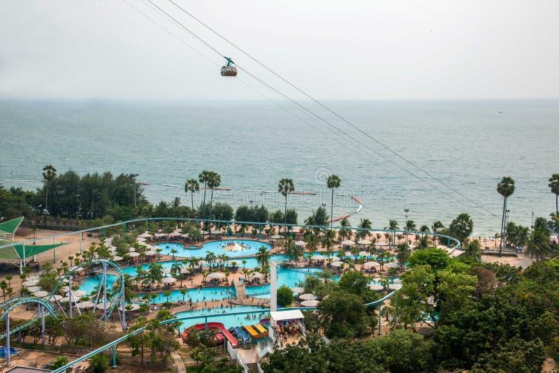 Pattaya parka plaży Hotelowy nabrzeżne boisko fotografia stock