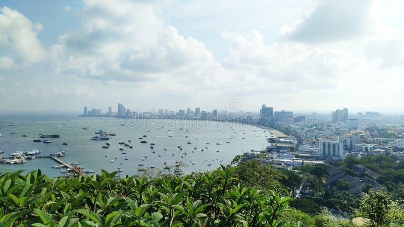 Pattaya pejzaż miejski i Bali Hai molo w Tajlandia obrazy royalty free