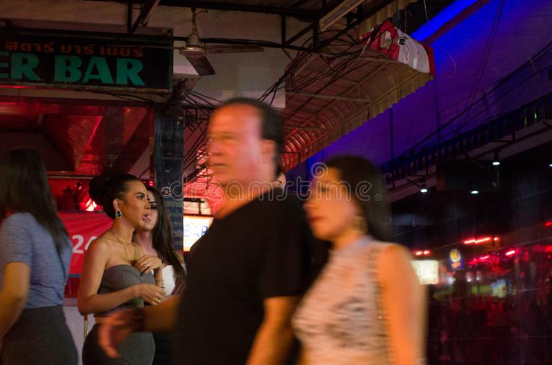 Pattaya, rua de passeio fotos de stock royalty free
