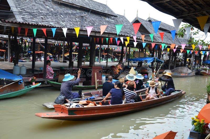 Pattaya rynku cztery Spławowi regiony zdjęcie stock