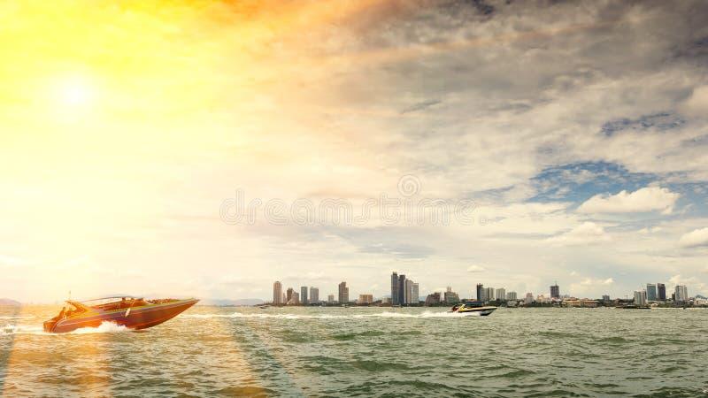Pattaya-Stadt stockbilder