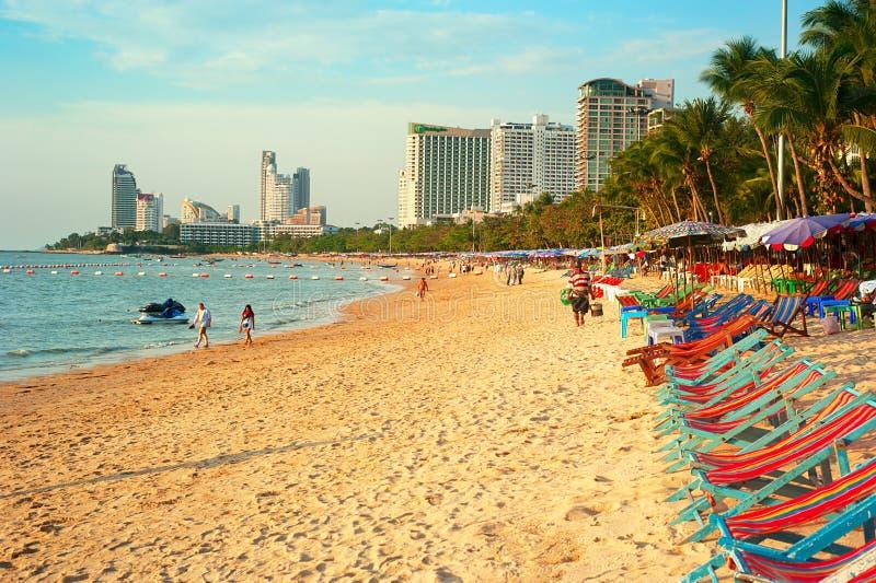 Pattaya strand arkivfoto