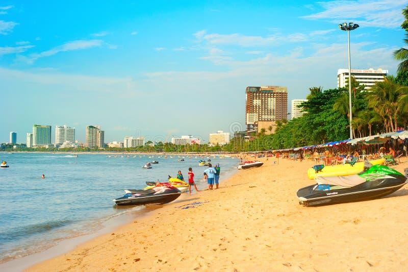 Pattaya strand royaltyfri bild