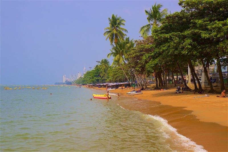 Pattaya strand, Thailand fotografering för bildbyråer