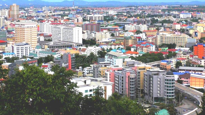 Pattaya sul Hotéis e condomínios Pattaya Tailândia fotografia de stock