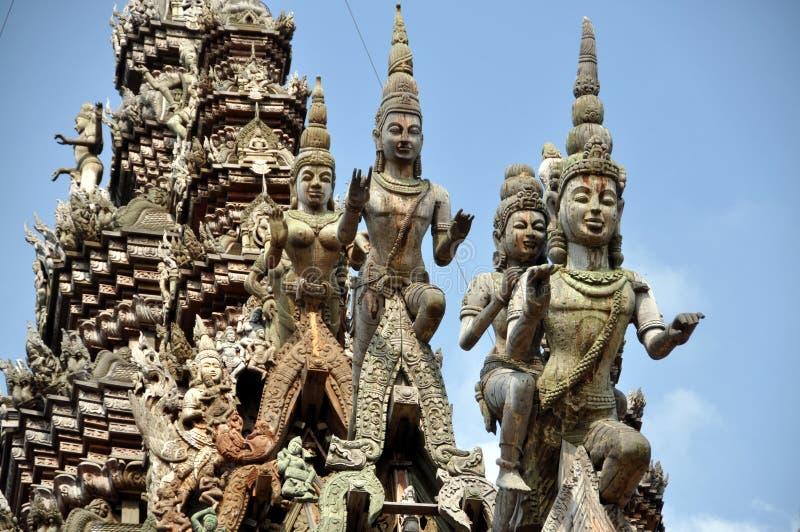 Pattaya, Tailândia: Santuário de Carvings da verdade imagem de stock royalty free