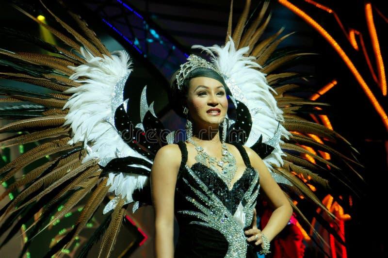 Pattaya, Tailandia: Esecutore di esposizione di Alcazar immagine stock libera da diritti