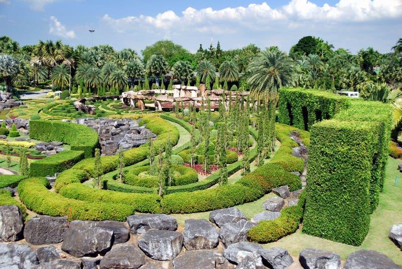 Pattaya, Tailandia: Giardini di Nong Nooch fotografie stock