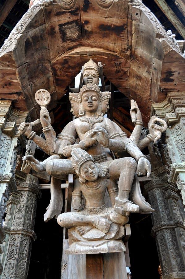Pattaya, Tailandia: Santuario de las figuras de la verdad fotos de archivo libres de regalías