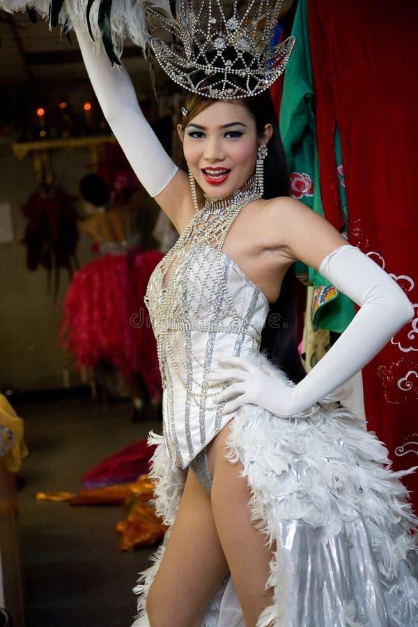 Pattaya, Tajlandia, Alcazar transsexual kabaret zakulisowy obrazy royalty free