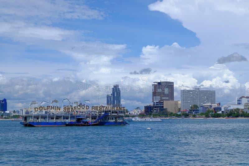 PATTAYA Tajlandia widok od łodzi zdjęcie royalty free