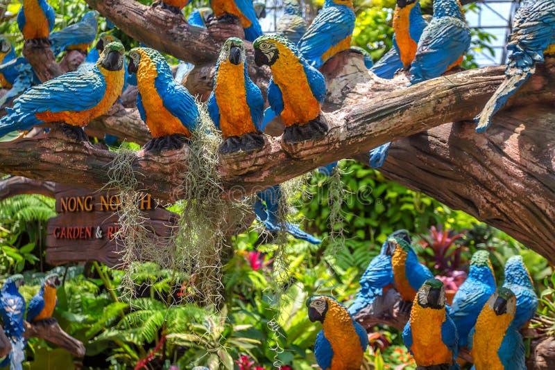 PATTAYA, THAÏLANDE - MARS 2013 : Jardin de Nong Nooch photos stock