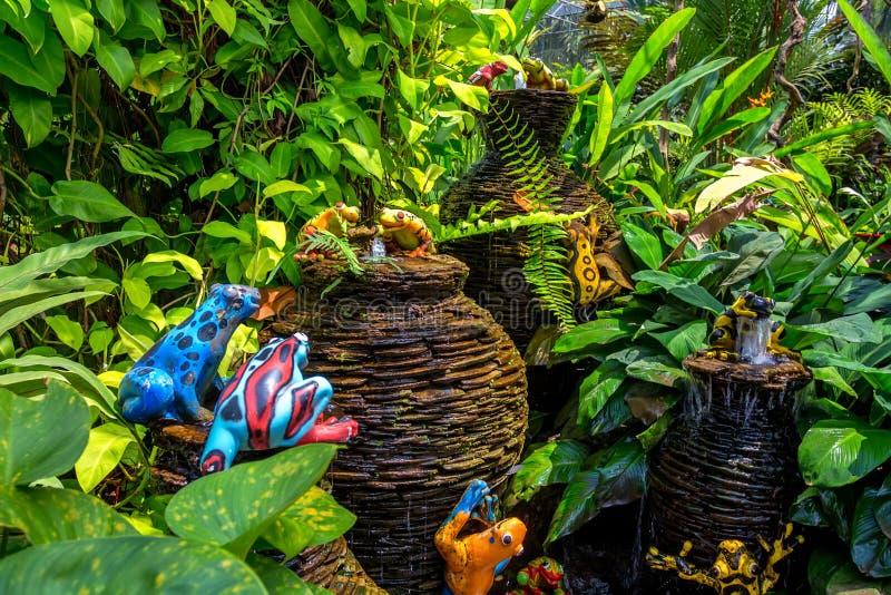 PATTAYA, THAÏLANDE - MARS 2013 : Jardin de Nong Nooch photo stock