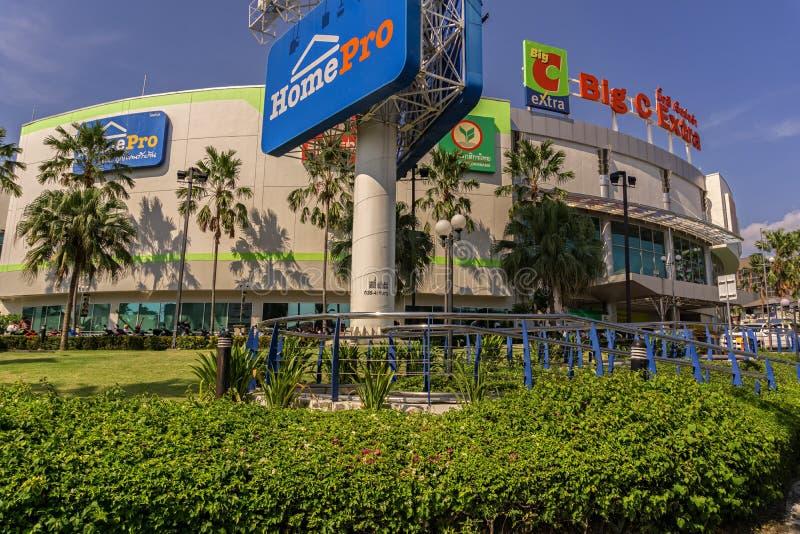 PATTAYA,THAILAND - APRIL 24,2018: Big C Extra This is a modern,medium shopping mall royalty free stock photos
