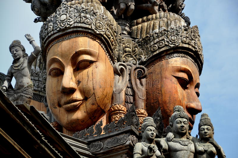 Download Pattaya, Thailand: Carved Buddha Faces Stock Image - Image: 13706723