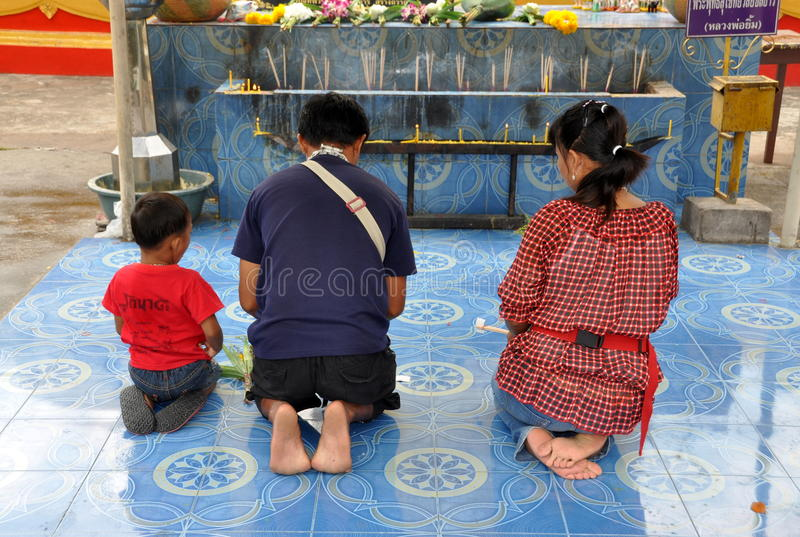 Download Pattaya, Thailand: Family At Prayer Editorial Stock Image - Image: 13597359
