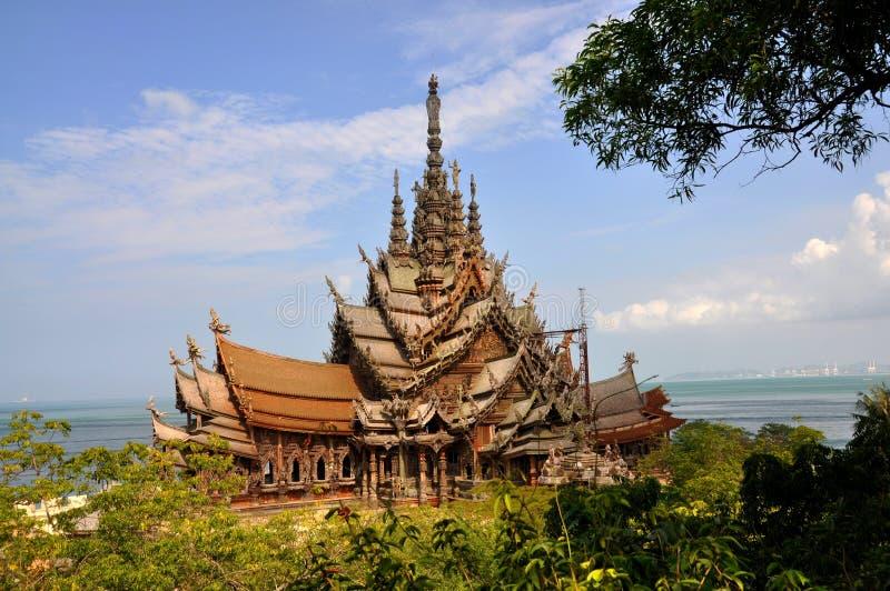 Pattaya, Thailand: Heiligdom van Waarheid stock foto's