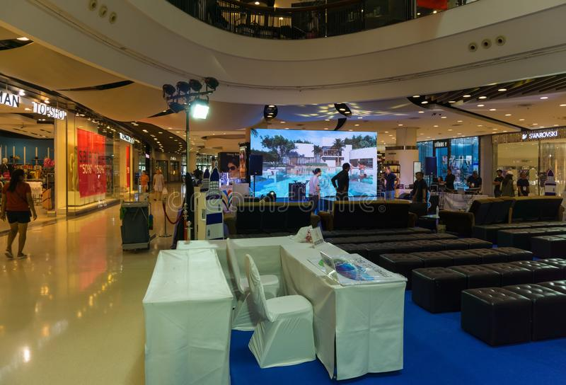 PATTAYA, THAILAND - OKTOBER 18,2018: Zentrales Festival innerhalb des Malls, lizenzfreie stockfotos