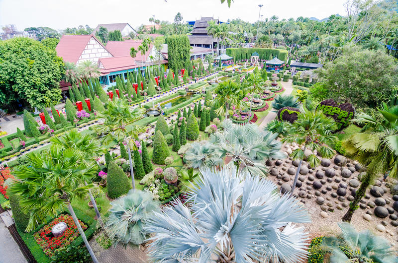 Pattaya,ThailandNong : Nooch Tropical Garden desig stock photo