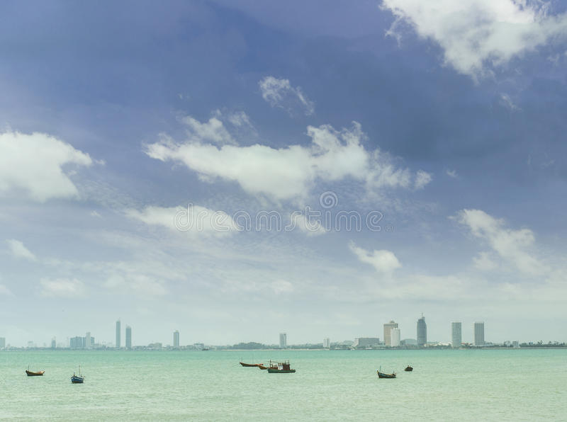 Pattaya. The view of the buildings and skyscrapers in Pattaya Beach, Thailand stock image