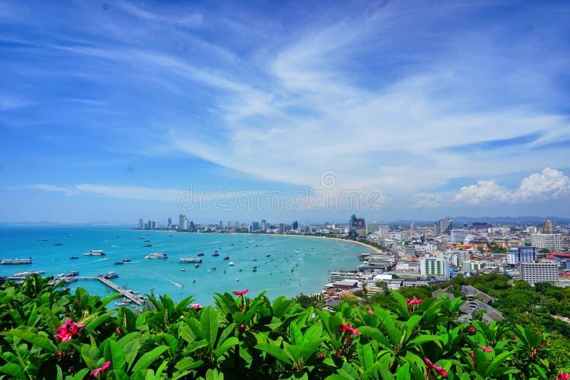Pattaya widoku punkt Tajlandia zdjęcia royalty free