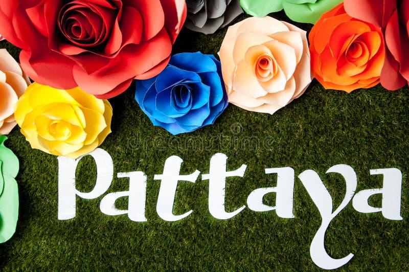 Pattayateken stock foto