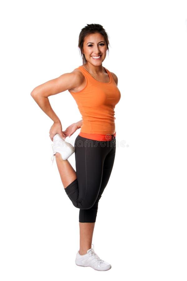 Patte étirant L Exercice De Forme Physique Image libre de droits