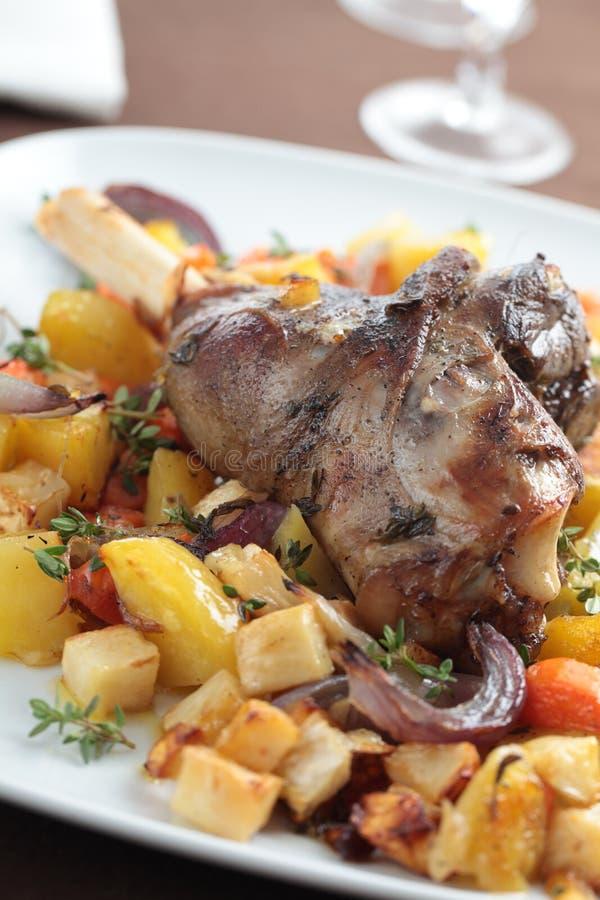 Patte d'oie avec des légumes photos libres de droits