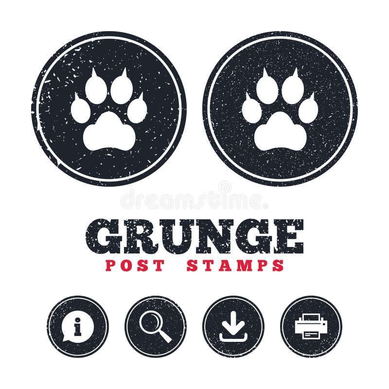 Patte de chien avec l'icône de signe d'embrayages Choie le symbole illustration de vecteur