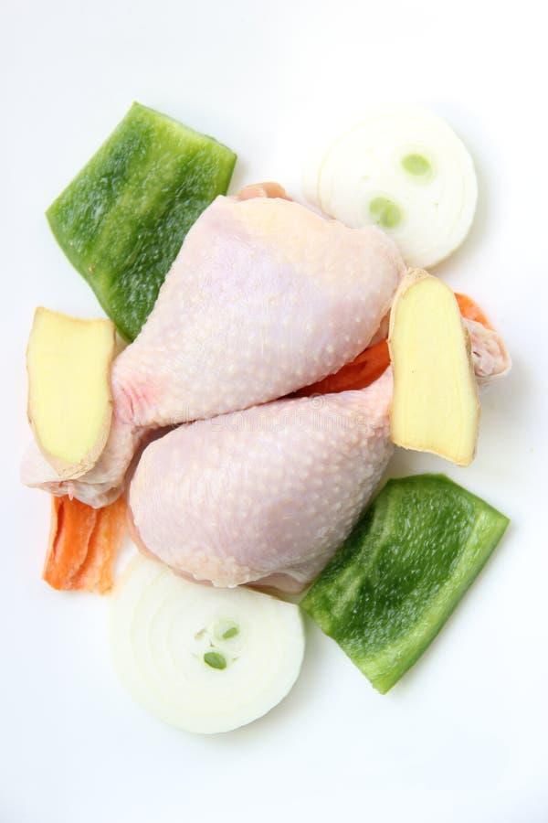 Patte de poulet crue photographie stock libre de droits