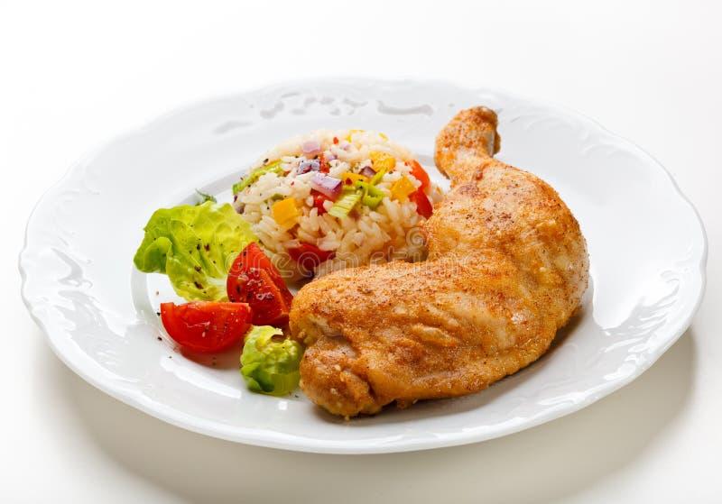 Patte de poulet rôti photographie stock libre de droits