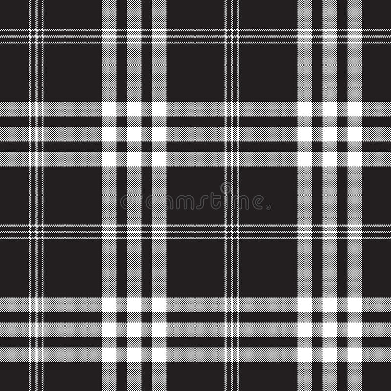 Patte sem emenda da textura preto e branco da tela do quadrado do pixel da verificação ilustração stock