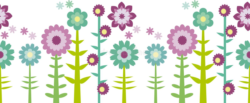 Patten inconsútil de la flor libre illustration