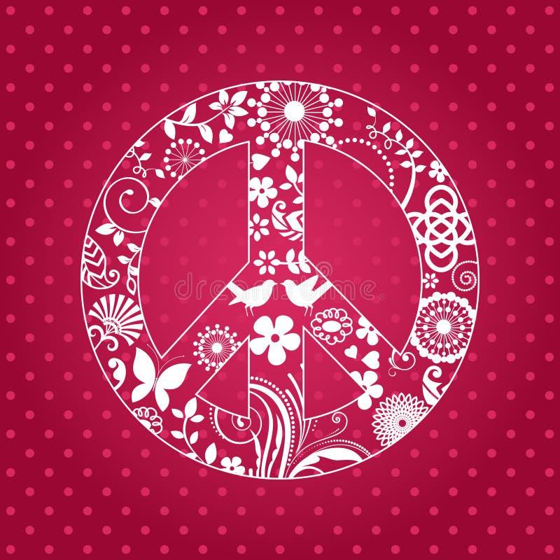 Patterened-Friedenszeichen stock abbildung