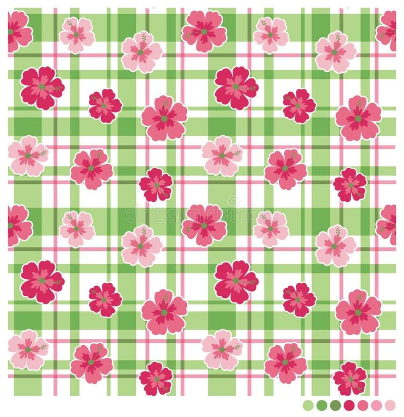 Patterm sem emenda da flor do hibiscus ilustração stock