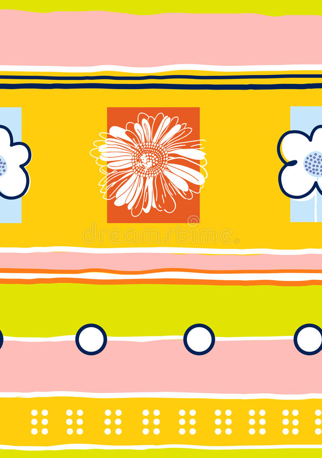Pattern-03 floreale senza giunte fotografia stock libera da diritti