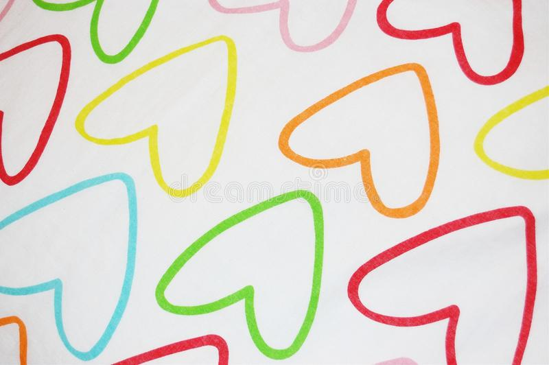 The pattern. And drawings on the fabric royalty free stock photo