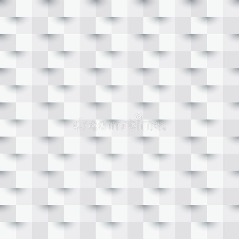 Vector White abstract 3d paper art style texture background can be used in cover design, book design, poster, cd cover, flyer, web royalty free illustration