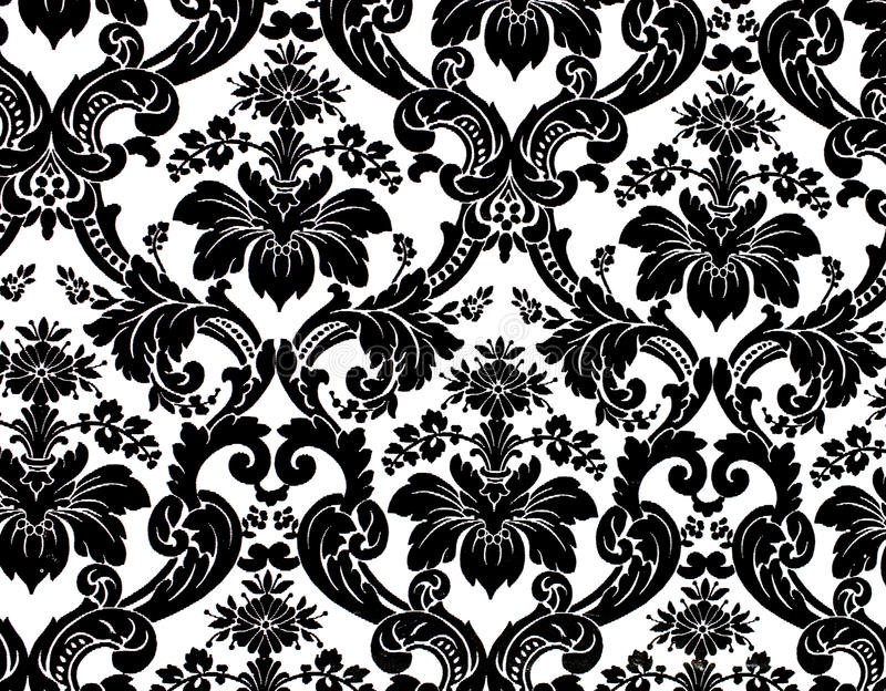 Pattern. Monochrome seamless damask pattern. Nice to use as background royalty free stock image